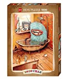 "Create your own bizarre creature with Heye's 1000 piece jigsaw puzzle. This one is a vivid blue one in a bathtub with his three eyes resting on either the counter or the floor. It is appropriately named, ""Bathtub."" It is part of the Zozoville..."