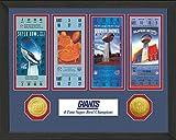 "NFL New York Giants Sb Championship Ticket Collection, Bronze, 18 "" x 14"" x 3"""