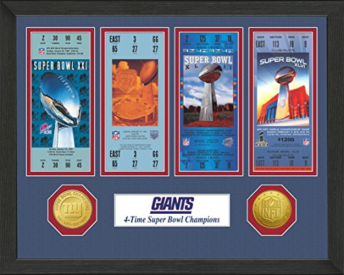 NFL New York Giants Sb Championship Ticket Collection, Bronze, 18