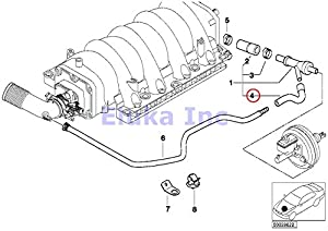 amazon com bmw genuine vacuum hose vacuum pipe to brake booster bmw genuine vacuum hose vacuum pipe to brake booster vacuum valve 740i 740il 740ilp 540i 540ip alpina v8 x5 4 4i x5 4 6is