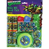 Amscan Awesome TMNT Mega Mix Birthday Party Favors Value Pack (48 Piece), 11.3 x 8.3