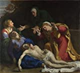 Perfect Effect Canvas ,the High Definition Art Decorative Canvas Prints Of Oil Painting 'Annibale Carracci - The Dead Christ Mourned (The Three Maries),about 1604', 20x22 Inch / 51x56 Cm Is Best For Wall Art Decoration And Home Artwork And Gifts