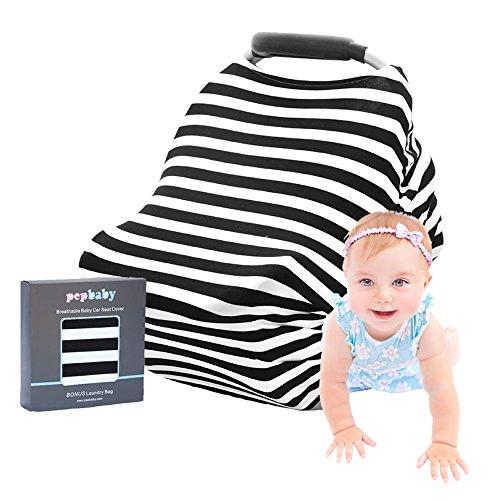 PREMIUM 4-in-1 Multi-Use Baby Car Seat Cover, Nursing Blanke