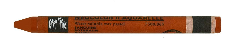 RAW SIENNA Caran Dache NEOCOLOUR II Artists Watercolour Crayons
