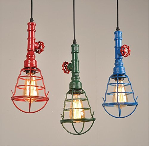 LUCKY CLOVER-A Ceiling Light Lampshade Retro Rustic Industrial Style Chandelier Pendant Lighting,Pack Of 3Pcs (Iron Clover Wrought)