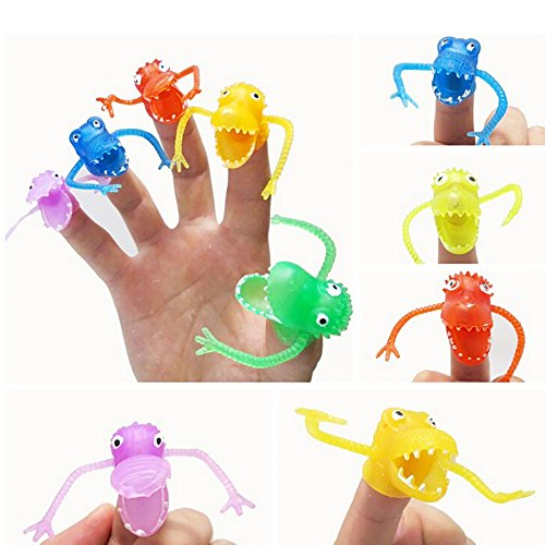 Cute Halloween Rhymes (Novelty Finger Puppets,ZYooh 10pcsDinosaur Finger Toy Finger Puppets for Kids Children,Playtime, Schools,Sleep Shows)