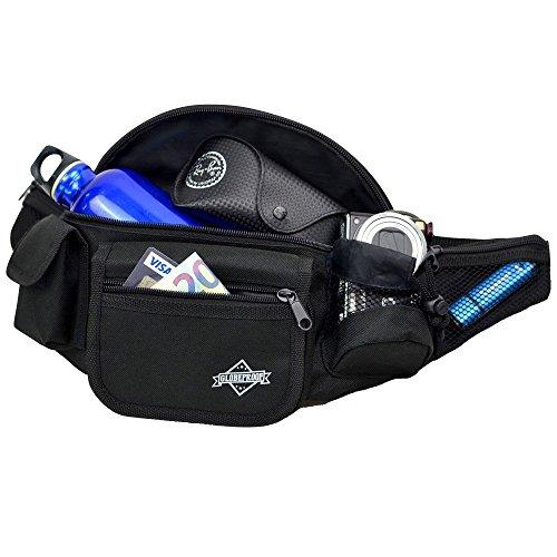 Bauchtasche / Gürteltasche für Damen & Herren - Ideal als Kameratasche oder Trekking-Tasche für Outdoor-Abenteuer - von Globeproof (schwarz)