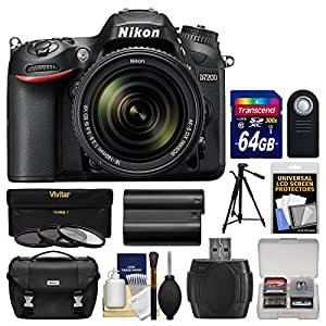 Nikon D7200 Wi-Fi Digital SLR Camera & 18-140mm VR DX Lens with 64GB Card + Case + Battery + Tripod + 3 Filters + Remote + Kit