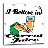 3dRose dpp_104959_3 I Believe in Carrot Juice-Wall Clock, 15 by 15-Inch For Sale