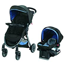 Graco FastAction 2.0 Click Connect Travel System with SnugRide Click Connect 35 Infant Car Seat - SECK35 Jaguar