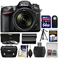 Nikon D7200 Wi-Fi Digital SLR Camera & 18-140mm VR DX Lens with 64GB Card + Case + Battery + Tripod + 3 Filters + Remote + Kit Explained Review Image