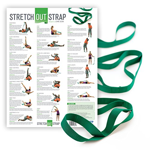 OPTP The Original Stretch Out Strap with Exercise Poster Top Choice of Physical Therapists & Athletic Trainers ()