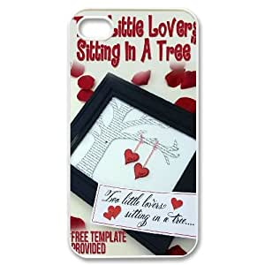 Customized Love Tree Iphone 4,4S Cover Case, Love Tree Custom Phone Case for iPhone 4, iPhone 4s at Lzzcase