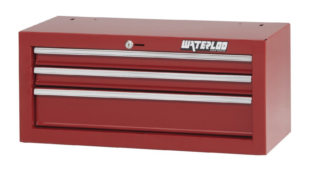 Waterloo Shop Series 3-drawer Intermediate Tool Chest with Full-Extension Friction Drawer Slides, Red Finish, 26'' W