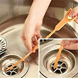 OrliverHL Kitchen Plastic Drain Clogs Cleaner Sink Plumbing Clogged Hair Removal Cleaner Cleaning Tool Remover Hook Sink Dredge Pipeline Hook