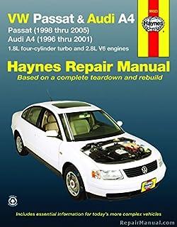 Vw passat 1998 2001 audi a4 1996 2001 chiltons total car care h96023 haynes vw passat audi a4 1996 2005 auto repair manual fandeluxe Images