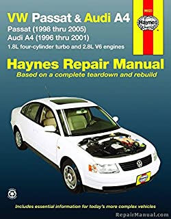 vw passat 1998 2001 audi a4 1996 2001 chilton s total car care rh amazon com 98 Passat Turbo 98 Passat Owner's Manual