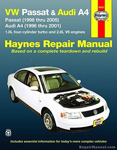 Audi A4 Passat - H96023 Haynes VW Passat Audi A4 1996-2005 Auto Repair Manual