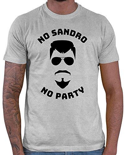Hariz Herren T Shirt No Sandro No Party Urlaub Spruuml Che Bier