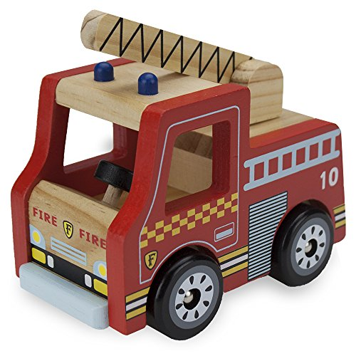 Wooden Wheels Natural Beech Wood Fire Engine by Imagination Generation