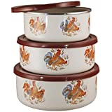 Reston Lloyd Corelle Coordinates 6-Piece Enameled Bowl Set, Country Morning