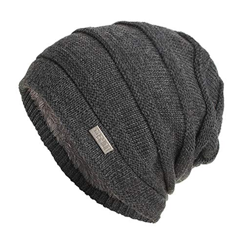 Chunky Soft Stretch Cable Knit Warm Lined Skully Beanie Hats Unisex Afterso from AfterSo Apparel