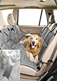 Pet Travel Hammock Dog Car Seat Cover-Eco-Friendly* Reversible* Quilted* Slate/Sand