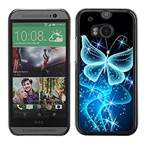 Impact Case Cover with Art Pattern Designs FOR HTC One M8 Butterfly Bling Glitter Shiny Diamond Betty shop