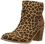 Very Volatile Women's Lacey Ankle Bootie, Tan/Leopard, 8.5 B US