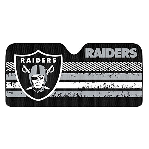 NFL Oakland Raiders Universal Auto Shade, Large, Black