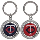 MLB Minnesota Twins Baseball Spinner Keychain, Blue, One Size