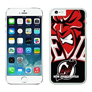 New Jersey Devils iPhone 6 Plus Cases NHL 5 White NHLW12963 by heywan