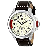 Tommy Hilfiger 1790844 Stainless Steel Sport Watch with Leather Band