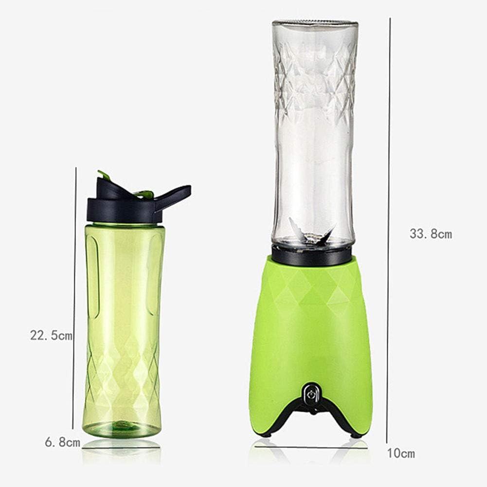 180W Blender Smoothie Maker - Frullatore Grinder Per Frutta, Verdura, Frullati Di Proteine - BPA Libera 500Ml Bottiglia Sport Portable, Grinder, Jar Blending,Rosa Blue