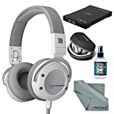 Beyerdynamic Custom Street Headphones (White) with Amplifier, Cleaner, and FiberTique Cleaning Cloth Kit