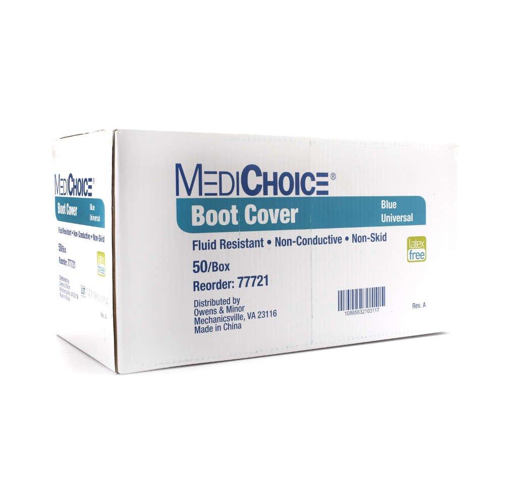 MediChoice Shoe Covers, Disposable, Anti-Skid Treads, Spunbond Meltblown Spunbond, Universal, Blue, 1314077721 (Case of 150) by MediChoice (Image #3)