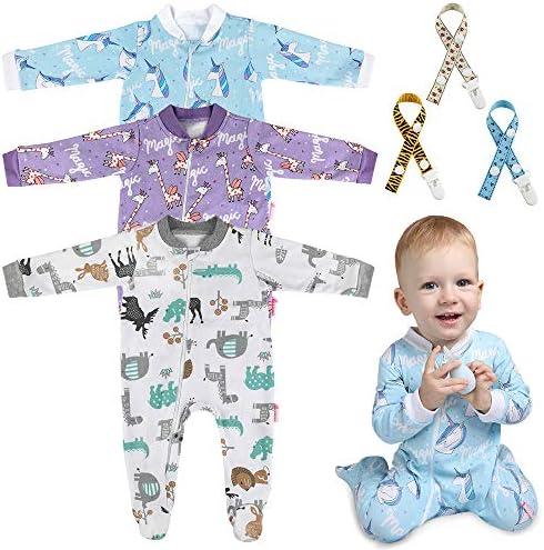 Lictin 6 Piezas Pijama para Bebé- Mameluco de Algodón con Cremallera con Puntos de Pegamento Antideslizantes para Pies, Pintura de Animal para Bebes (6-10 Meses): Amazon.es: Ropa y accesorios
