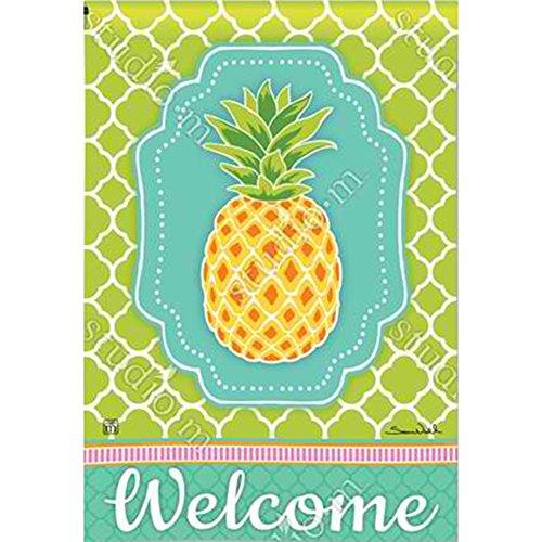 (BreezeArt Preppy Pineapple Garden Flag 31473 )