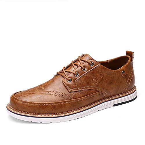 uomo Pure Bianco lavoro Primavera Scarpe Business Pure Traspirante Shoe formale Brown up Scarpe Lace Un PU XUE Casual da Pure leggero Grey Estate Business Black EATCEqU