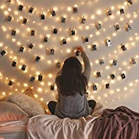Vont Starry Fairy Lights, String Lights, 66FT, 200 LEDs, Bedroom Decor, Wall Decor, USB Powered, Bendable Copper Twinkle…