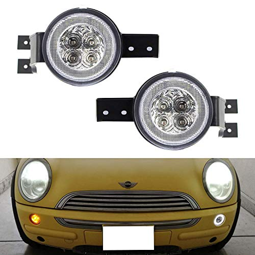 - iJDMTOY Clear Lens White LED DRL Parking Light/Turn Signal Assy For 02-06 MINI Cooper R50 R53 Hatchback & 05-08 R52 Convertible, OEM Fit White Daytime Running Lights & Amber Turn Signal Lamps