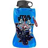 Vandor 99110 Star Wars 12 oz Collapsible Water Bottle, Multicolor