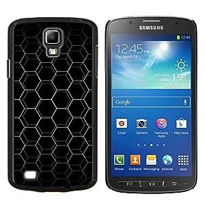 TECHCASE---Cubierta de la caja de protección para la piel dura ** Samsung Galaxy S4 Active i9295 ** --Resumen Hex Honeycomb