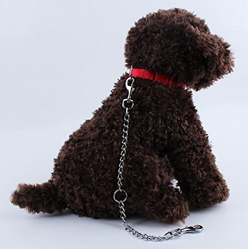 Ofanyia Double Dogs Lead 2 Way Iron Chain Leash Coupler Twin Pet Trainer Safety Rope Splitter for Walking Training