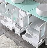 "60"" White Bathroom Vanity"