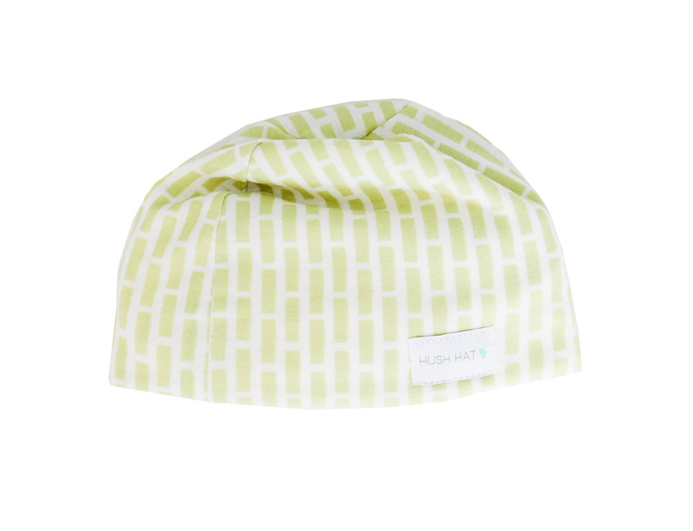 Hush Baby Hat with Softsound Technology and Medical Grade Sound Absorbing Foam, Lime Bricky/X-Large
