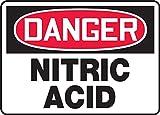 NITRIC ACID Sign, 10