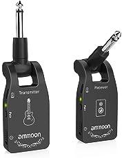 ammoon Inalámbrico Guitarra Receptor Transmisor de Guitarra Sistema de Guitarra Cable Inalámbrico (2.4G)