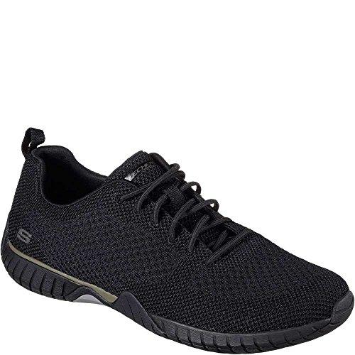 Zapatillas Skechers Sendro Jensen Slip On Sneaker Oxfords Negro / Negro