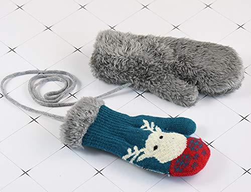 Handschuhe Niedlich unisex F/äustlinge Kleinkinder 1-4 Jahre M/ädchen Jungen Verdicke Kinderhandschuhe weich warme Winter Strickhandschuhe mit Pl/üsch Fleecefutter Babyhandschuhe als Weihnachten Geschenk